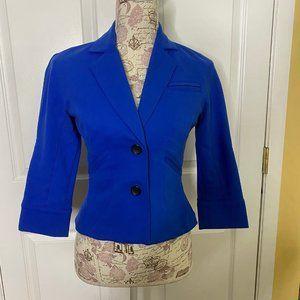 """Diane Von Furstenberg """"Topher"""" Royal Blue Jacket"""